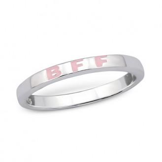 "Stříbrný prsten ""Best friends forever"". 1,4x2,5. Ag 925/1000"