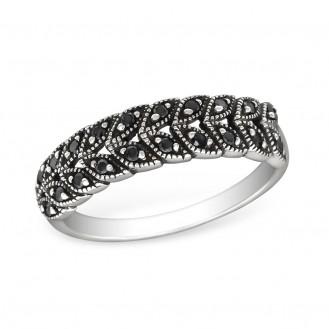 """Stříbrný prsten se zirkony """"Prominent"""". bk. 1,8x5 Ag 925/1000"""