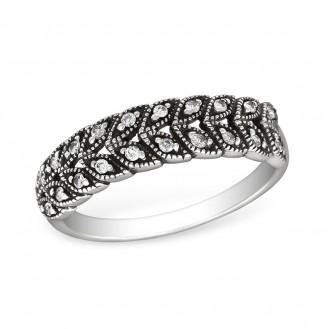 """Stříbrný prsten se zirkony """"Prominent"""". cry. 1,8x5 Ag 925/1000"""
