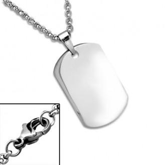 """Ocelový náhrdelník z chirurgické oceli """"Psí známka"""""""