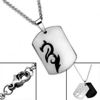 """Ocelový náhrdelník z chirurgické oceli """"Drak"""""""