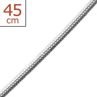 """Stříbrný řetízek """"Anguis"""". 0,9x45.rp. Ag 925/1000"""