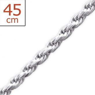 """Stříbrný řetízek """"Hermika"""". 1,5x45. Ag 925/1000"""