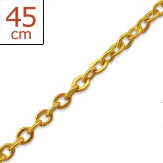 """Stříbrný pozlacený řetízek """"Kristýna"""" 45x1,5. gp. Ag 925/1000"""