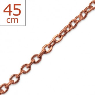 """Stříbrný pozlacený řetízek """"Kristýna"""" 45x1,5. rgp. Ag 925/1000"""
