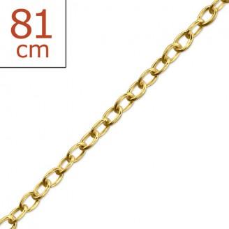 """Stříbrný pozlacený řetízek """"Octave"""". 81x1,0. gp. Ag 925/1000"""