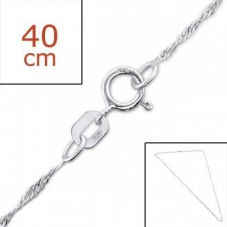 "Stříbrný řetízek ""Hortenzie"". 40cm. Ag 925/1000"
