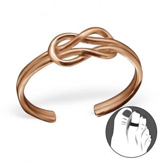 "Pozlacený stříbrný prsten na nohu ""Implicitum"". rgp. Ag 925/1000"