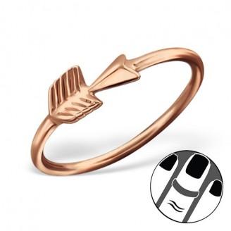 """Pozlacený midi prsten ze stříbra """"Arrow"""". rgp. Ag 925/1000"""
