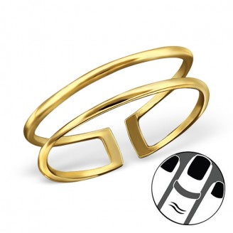 "Pozlacený midi prsten ze stříbra ""Memoria"". Ag 925/1000"