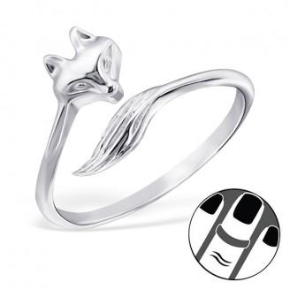 """Stříbrný midi prsten """"Liška"""". Ag 925/1000"""