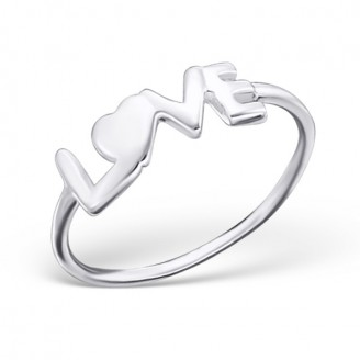 """Stříbrný midi prsten """"Láska"""". Ag 925/1000"""