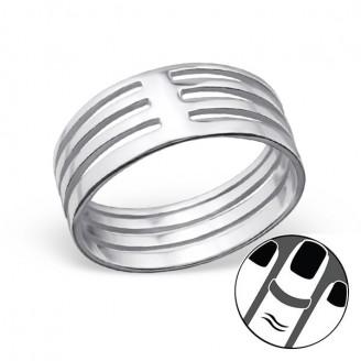 "Stříbrný midi prsten ""Rhyme"". Ag 925/1000"