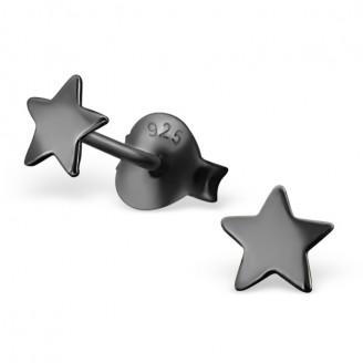 """4x4 Náušnice stříbrné pecky """"Hvězdičky"""".ru. Ag 925/1000"""