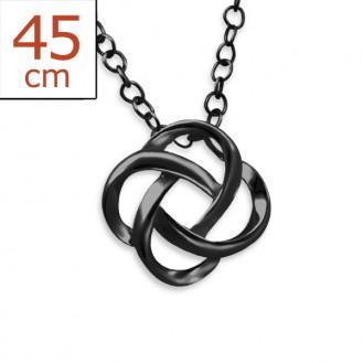 "Stříbrný náhrdelník zdobený ruthéniem ""Node"". Ag 925/1000"