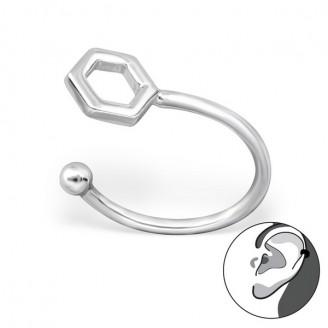 """Stříbrné záušnice """"Hexagon"""". Ag 925/1000"""