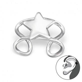 """Stříbrné záušnice """"Hvězda"""". Ag 925/1000"""