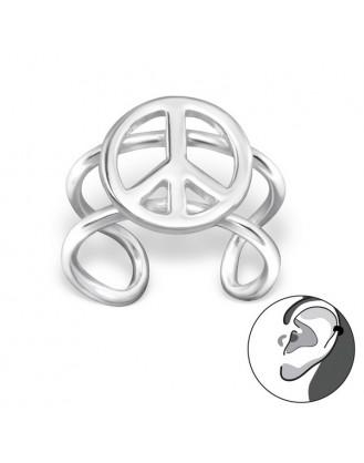 """Stříbrné záušnice """"Peace"""". Ag 925/1000"""