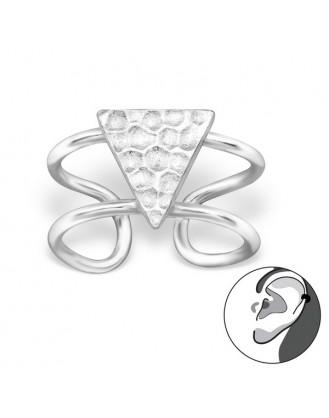 """Stříbrné záušnice """"Triangulum"""". Ag 925/1000"""