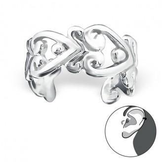 """Stříbrné záušnice """"Spojená srdce"""". Ag 925/1000"""