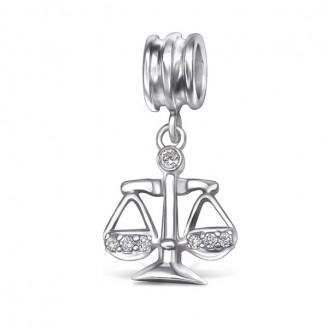 """Korálek stříbrný """"Znamení zvěrokruhu Váhy"""" na Pandora náramek. Ag 925/1000"""